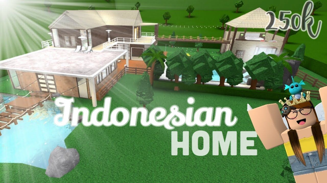 Indonesian Home 250k Bloxburg L Roblox Youtube Two Story House Design Tiny House Layout Cute House