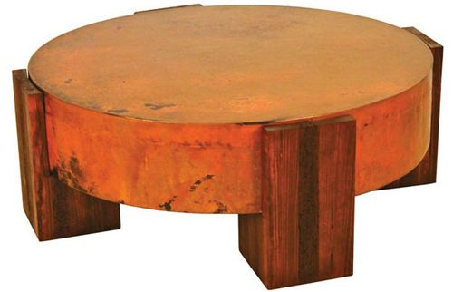coppper coffee table 7; rustic, cabin, lodge, western, southwest