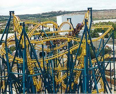 Six Flags Fiesta Texas Poltergeist Crazy Roller Coaster Theme Parks Rides Amusement Park Rides