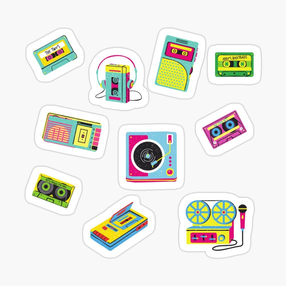 Cassette Tape Vintage Music Sticker By Dodo S Products In 2020 Music Stickers Vintage Music Cassette Tapes