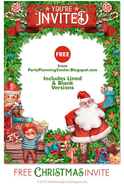 Free Printable Santa Christmas Party Invitation Template Christmas Party Invitations Free Christmas Party Invitations Printable Christmas Invitations Template