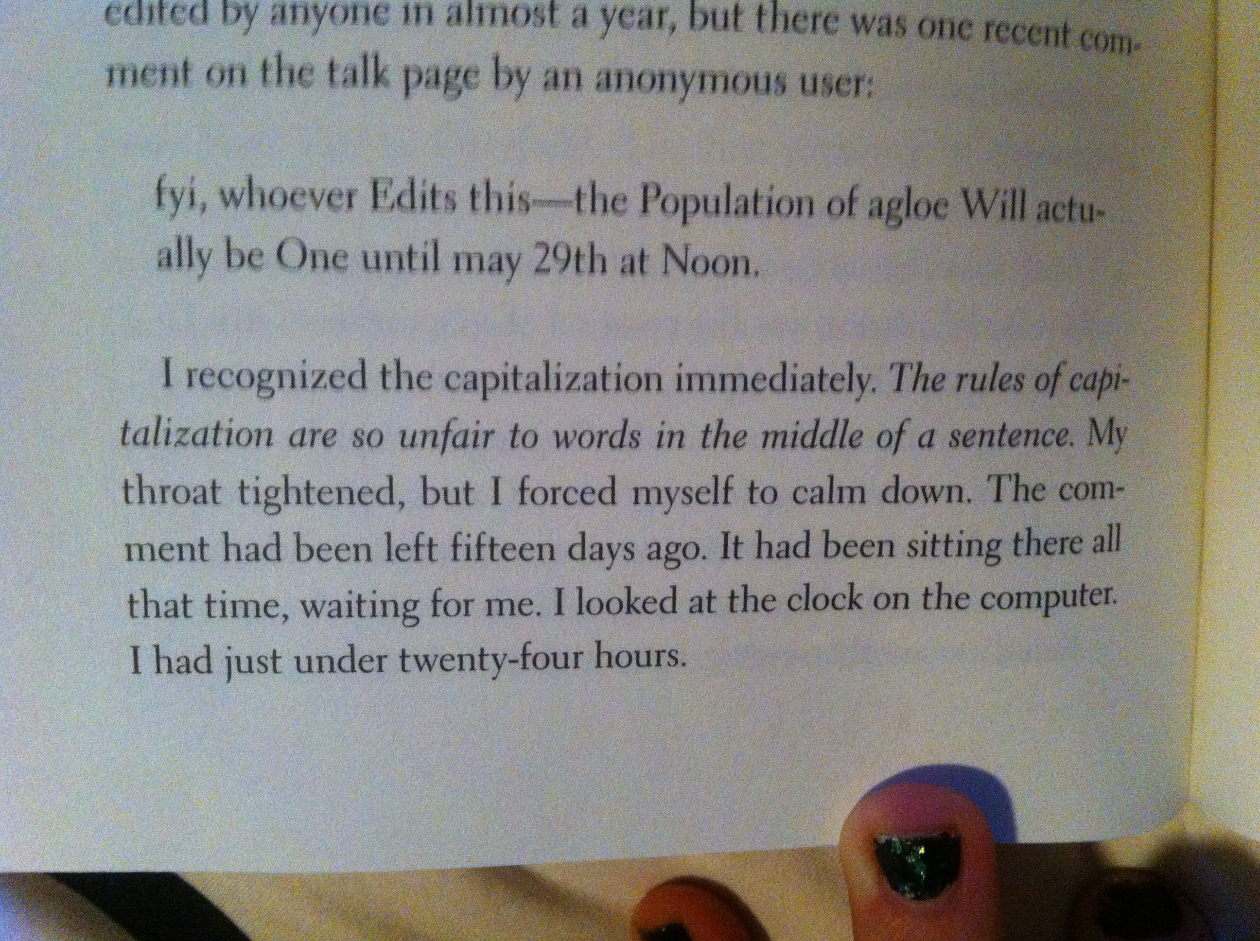 The Rules Of Capitalization Are So Unfair E To The Words In The Middle Of The Sentences