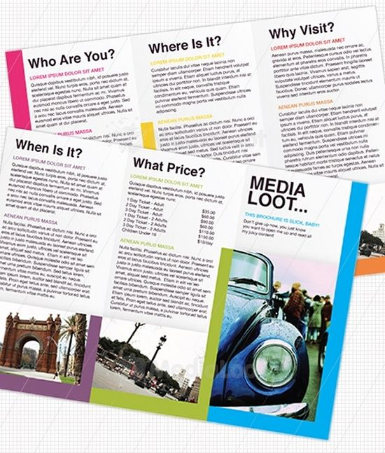 Tri-Fold Brochure Design Template Work Pinterest Tri fold