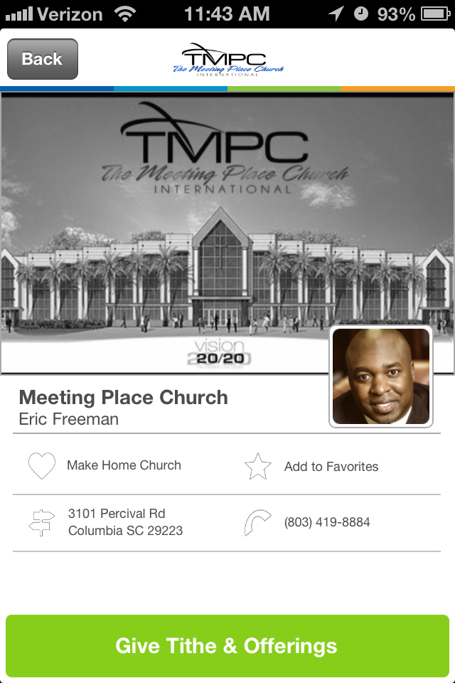 The Meeting Place Church in Columbia, South Carolina #GivelifyChurches