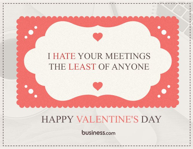 11 Business Valentine Day Cards For The Office Printable
