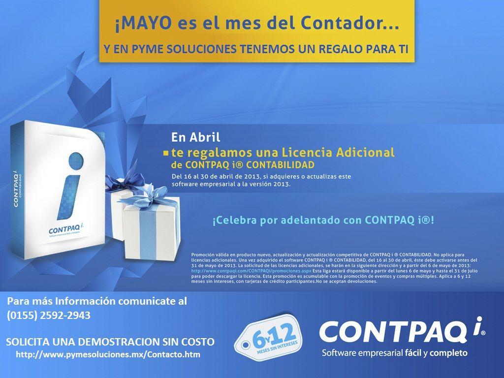 Pyme Soluciones MX. Te adelantamos tu regalo Contador, para más información Solicita una Demostración http://www.pymesoluciones.mx/Contacto.htm