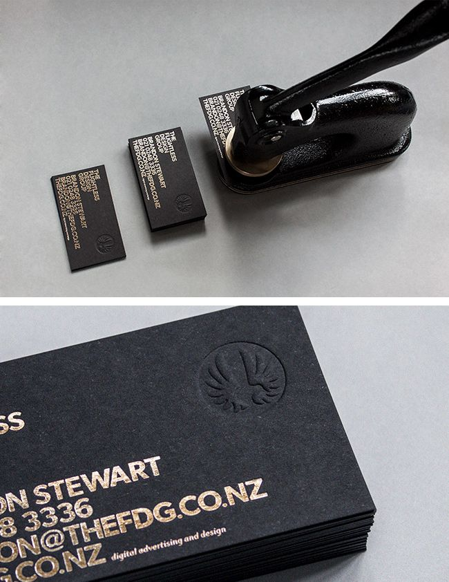 The Top 12 Most Attractive Embossed Business Cards