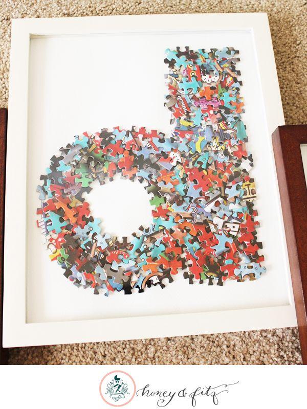 7 Puzzle Piece DIY Ideas   Pinterest   You ve, Easy and Puzzle pieces
