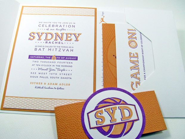 Basketball Bat Mitzvah Invitations httpwwwdigbyrosecom2012