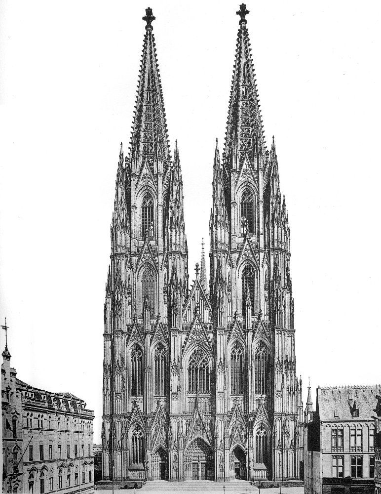 The West Front Of The Completed Cathedral In 1911 This Is A Scan Of The Historical Document Cologne Cathedral Cathedral Gothic Cathedrals