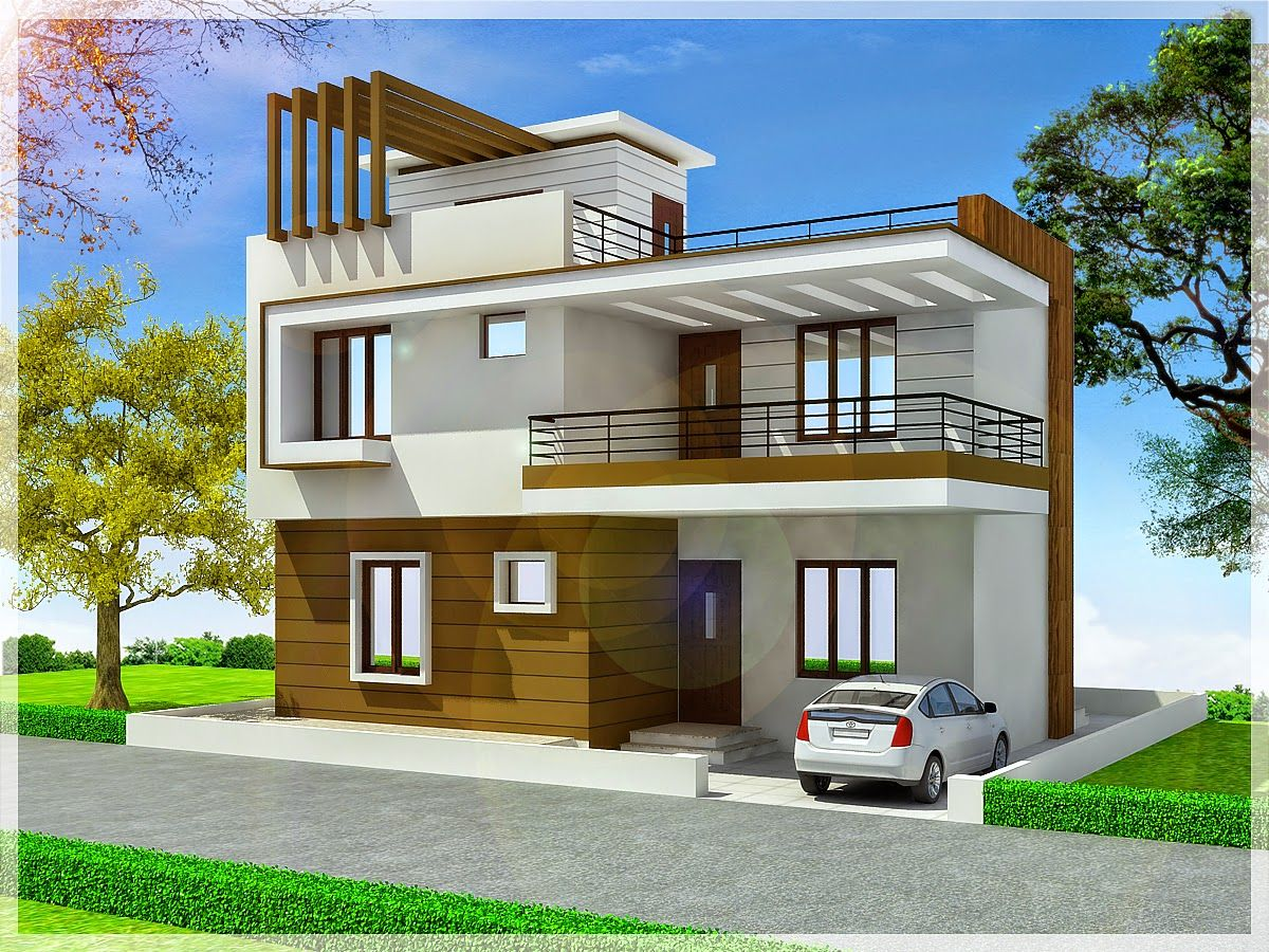 House plan and design drawings provider india duplex for Contemporary indian house elevations