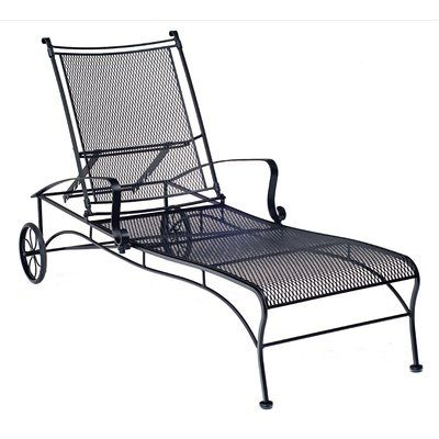 Woodard Bradford Reclining Chaise Lounge Patio Chaise Lounge