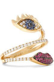 18-karat gold multi-stone ring