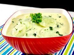Gurkensalat mit einem Joghurt Senf Dressing - Zu Faul Zum Kochen ?