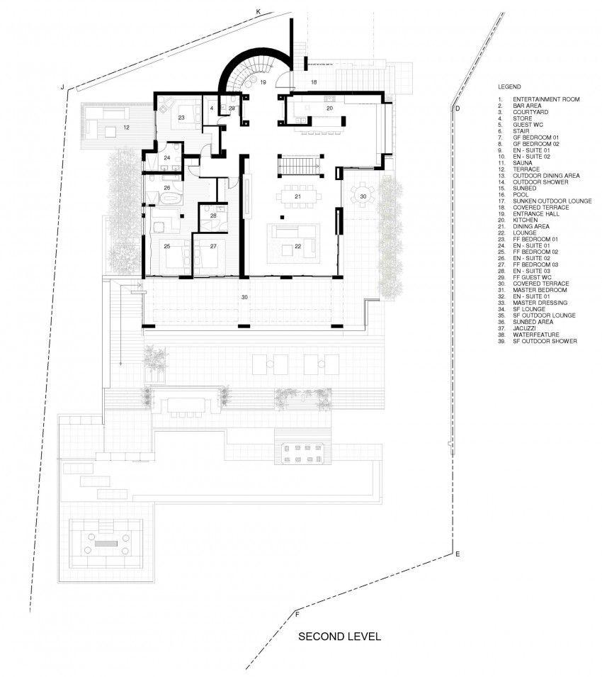 Stunning Beach Villa In Ibiza Floor Plans How To Plan Villa