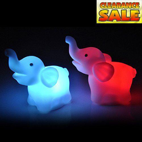 Tiean Elephant Shape Color Changing LED Night Light Lamp Wedding