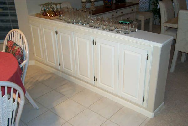 Turn Half Wall Into Cabinets Bar Stools On Other Side And