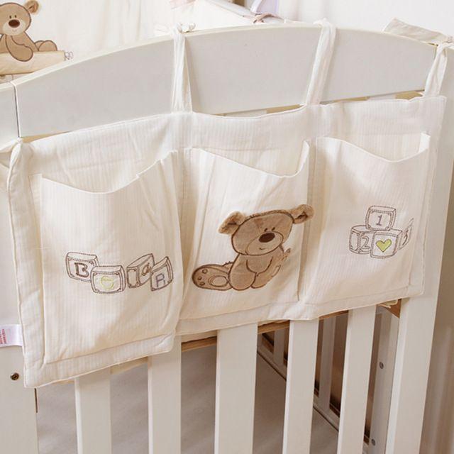 Baby Bed Hanging Storage Bag Crib Organizer Toy Diaper Pocket for Crib Bedding