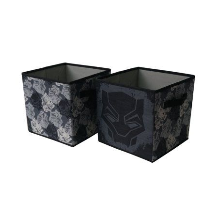 Black Panther Soft Collapsible Storage Cubes Set Of 2 Size 10 Inch Multicolor Collapsible Storage Cubes Cube Storage Black Panther