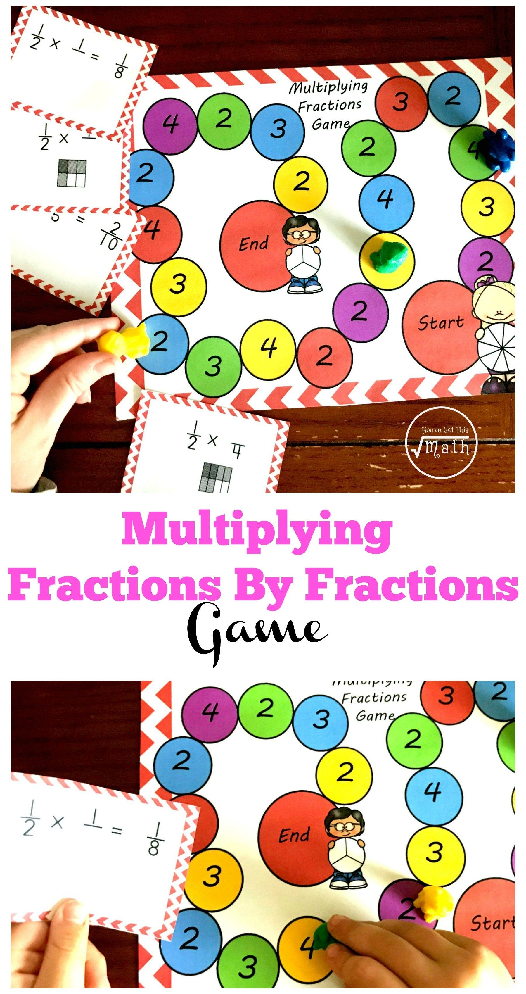 photo relating to Printable Fraction Game named Absolutely free printable portion video game for multiplying fractions Artofit