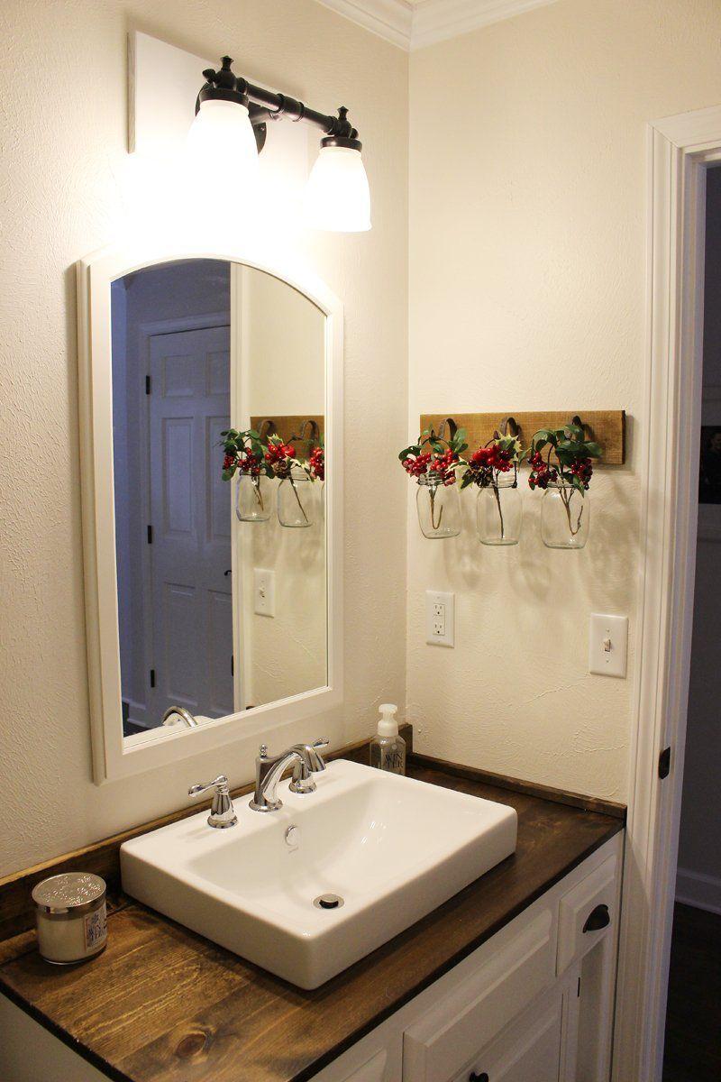 47 bathroom decor on a budget farmhouse style  half