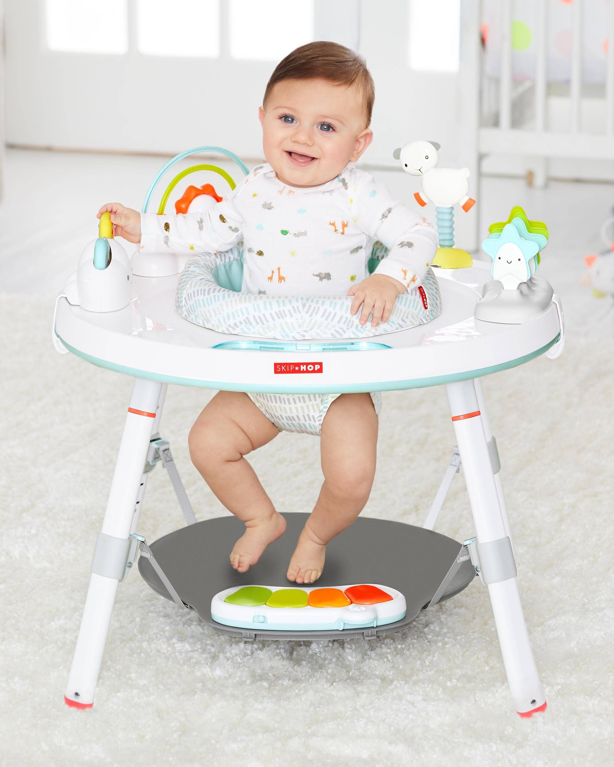 Silver Lining Cloud Baby S View Activity Center Baby Activity Center Cloud Activities Infant Activities