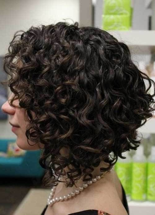 Striking Short Stacked Curly Bob Haircut Curly Hair Styles