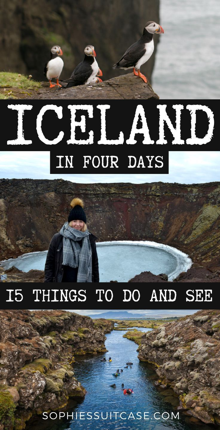 TOP THINGS TO DO IN ICELAND Spend four days in Iceland and see the best the country has to offer This list of things to do will keep you busy Whale watching visiting wate...