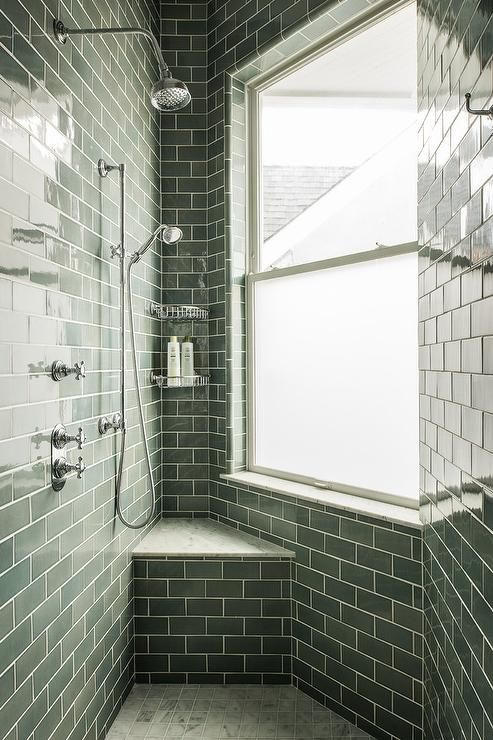 Green Subway Tiles With Images Green Subway Tile Bathroom Design Luxury Green Bathroom