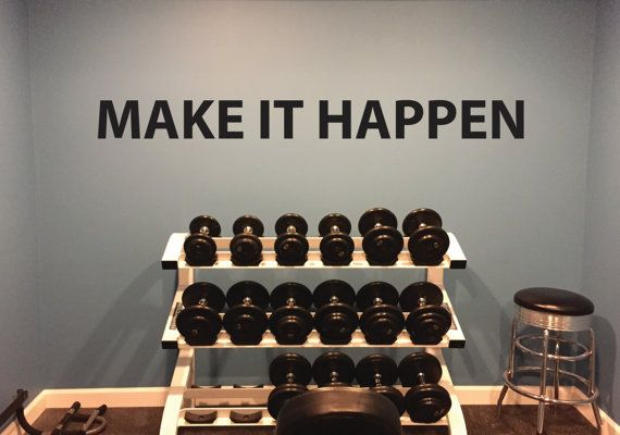 Classroom Decor, Gym Decor, MOTIVATIONAL QUOTE, Make it Happen Wall Decal