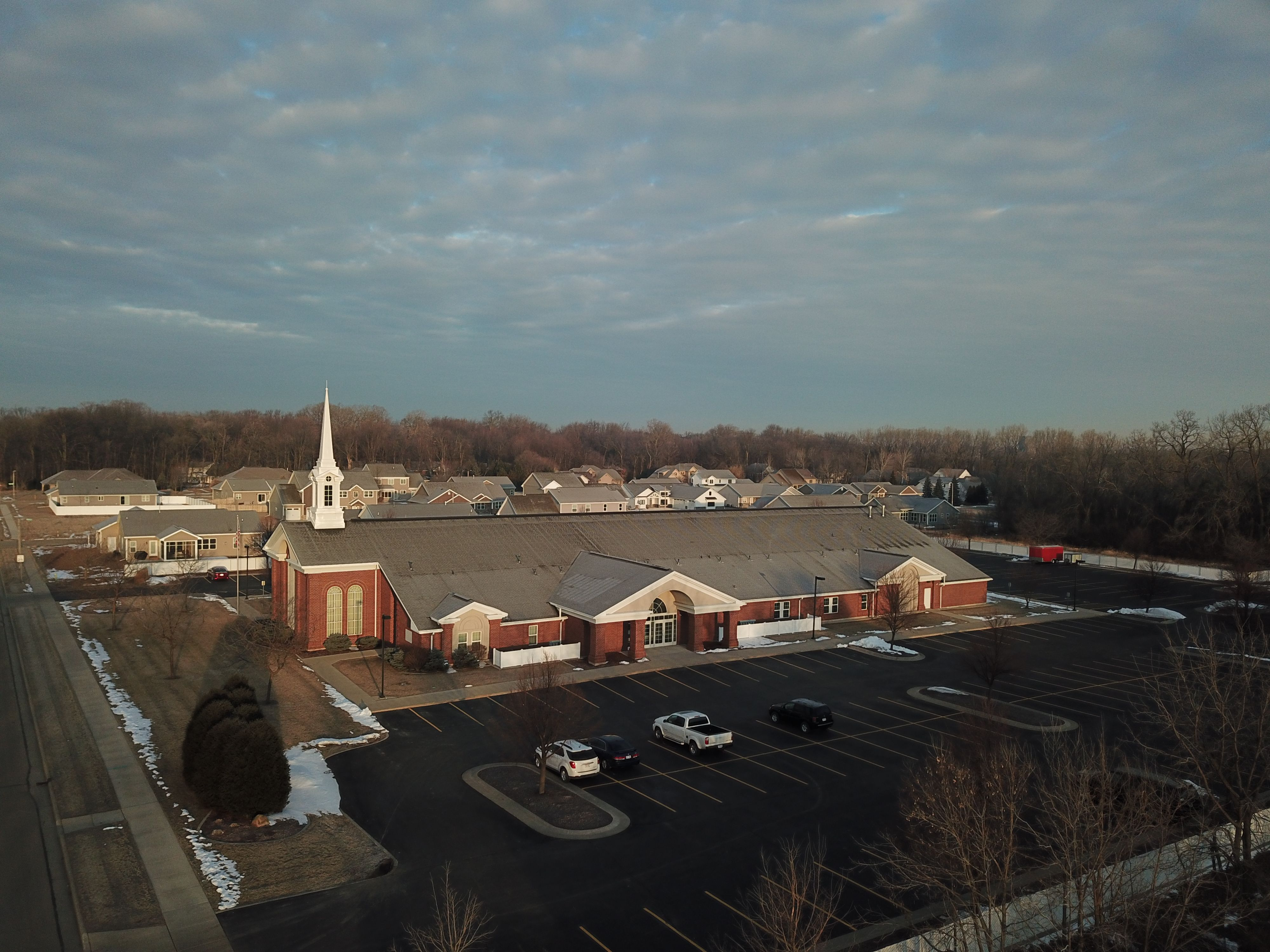 Neenah Stake Center Lds Chapel Neenah Wi Aerial Photography