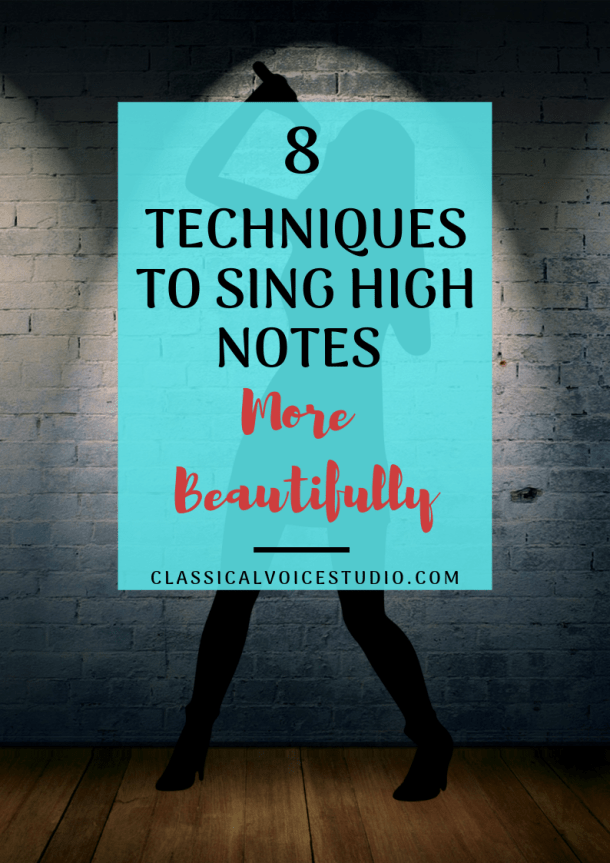 8 Techniques How to Sing High Notes #howtosing 8 Vocal Techniques to sing high notes more beautifully. Tips and tricks for how to sing high notes. Free printable singing exercises- digital download #vocalwarmups #singing #singingtips #vocaltechnique #howtosing
