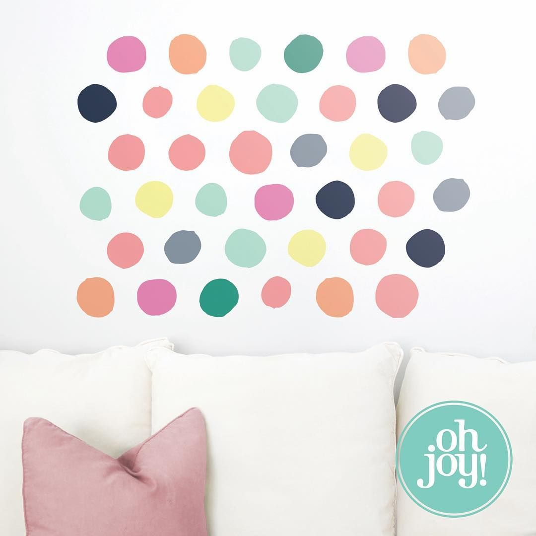 Your Decor Will Be Spot On Once You Put Up Oh Joy Dots Wall - How do you put up a wall decal