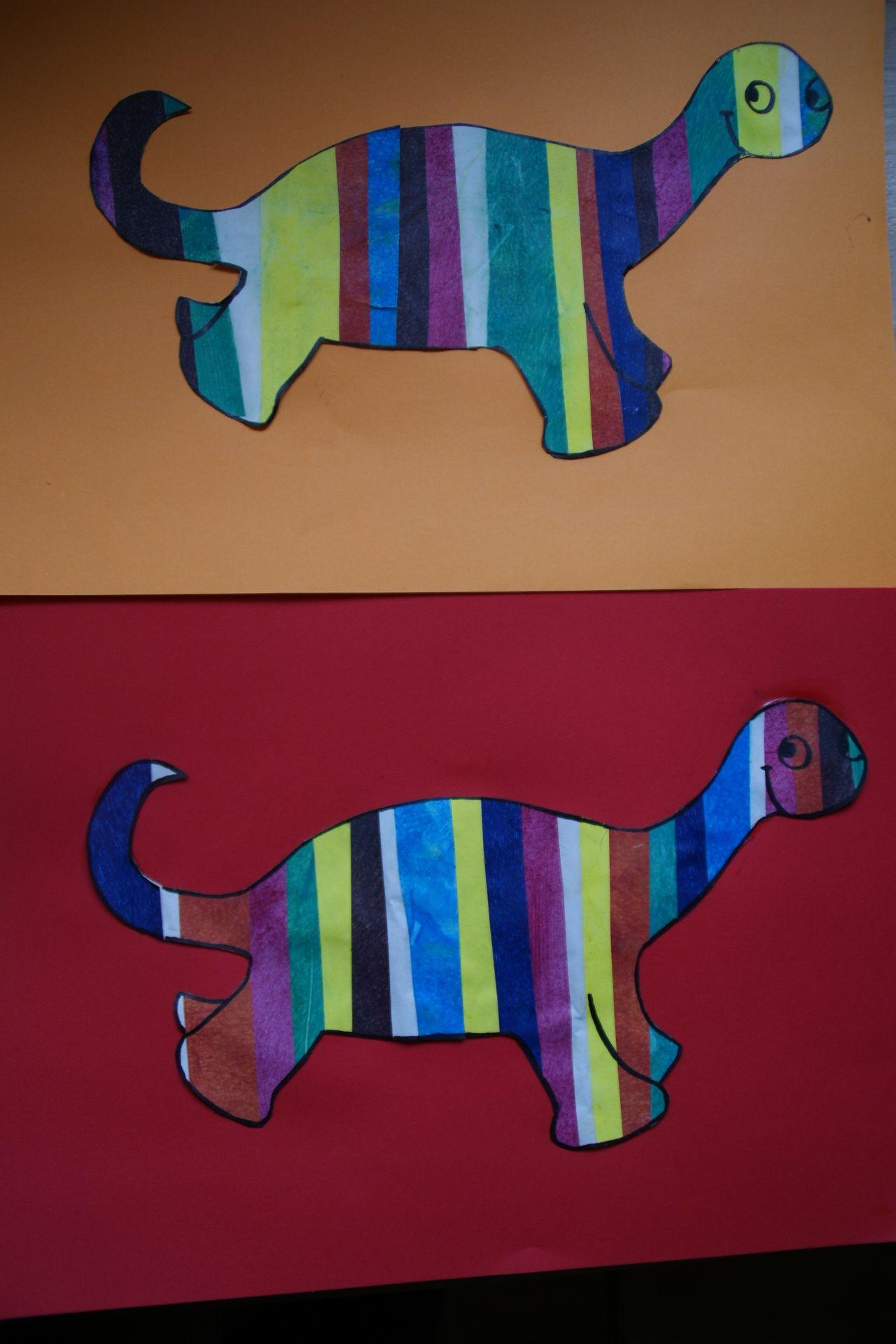 Peindre Pop le petit dinosaure