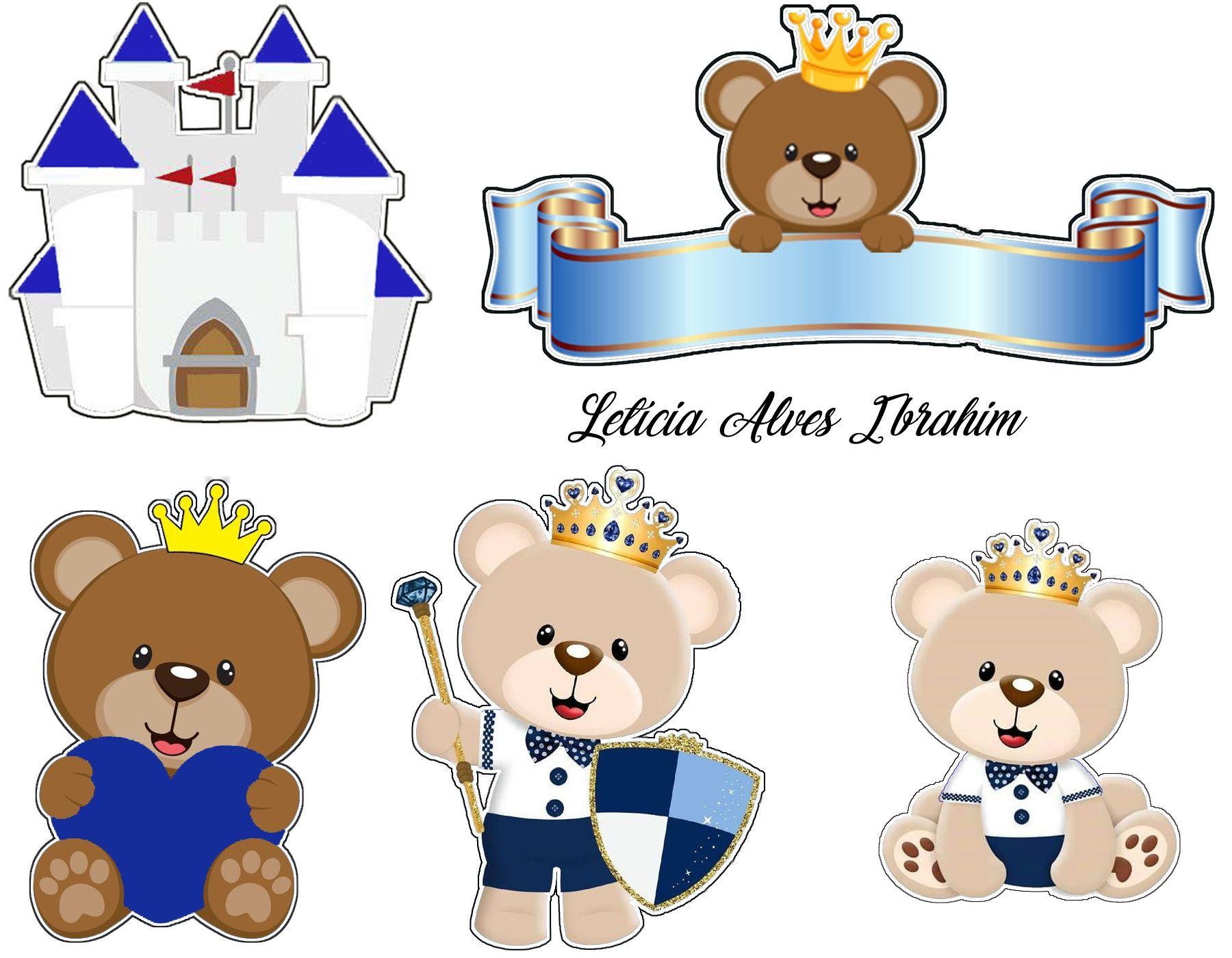 Topper Urso Principe Desenho De Urso Urso Bolo Ursinho