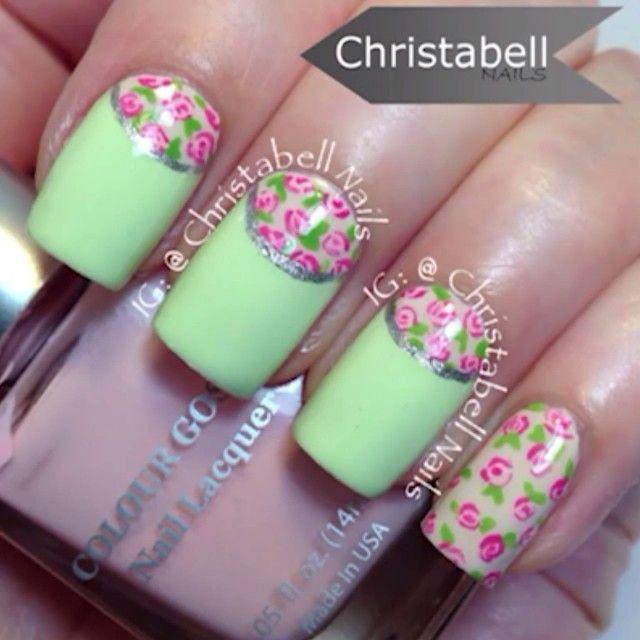 christabellnails #nail #nails #nailart | UÑAS | Pinterest | Flores