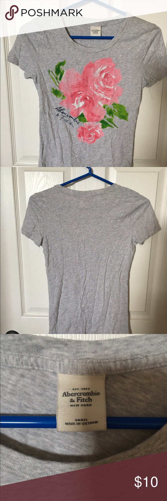 Abercrombie & Fitch t shirt Super cute Abercrombie & Fitch tee shirt in excellent condition. size S Abercrombie & Fitch Tops Tees - Short Sleeve