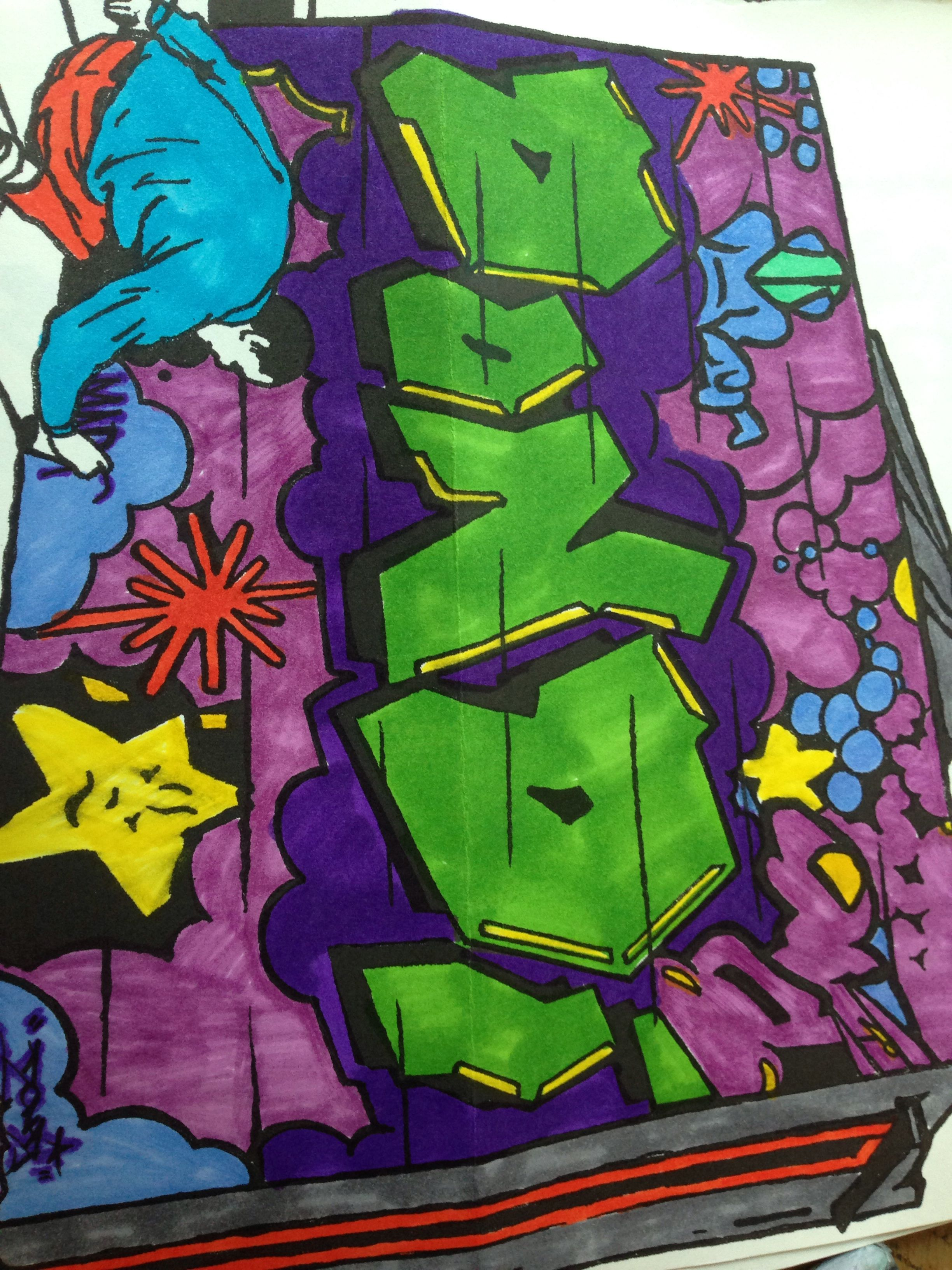 Graffiti coloring book | My coloring pages | Pinterest