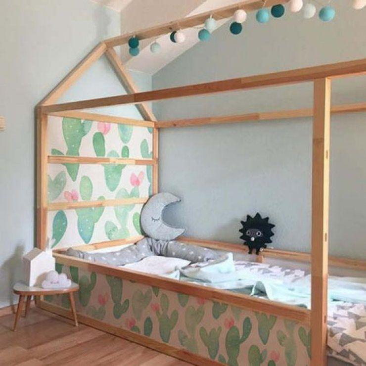 Mommo Design New Look For Kura With Stickers Floor Bed Ikea