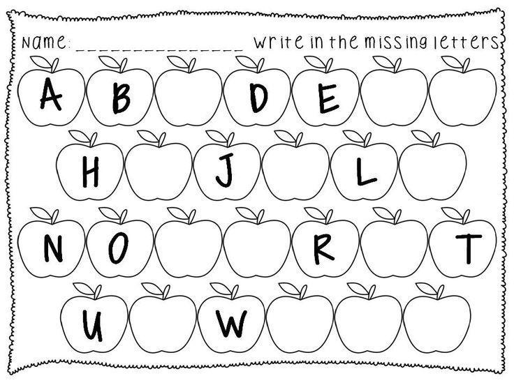 Alphabet Sequence Printables Fall Theme PreK K First – Alphabets Worksheets