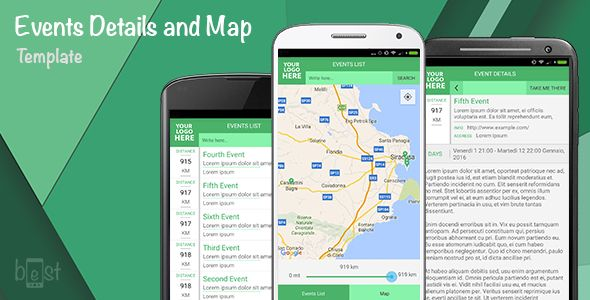 Events, details and map Android App Map marker - free resume builder app for android