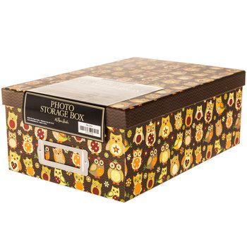 Patchwork Owls Photo Box