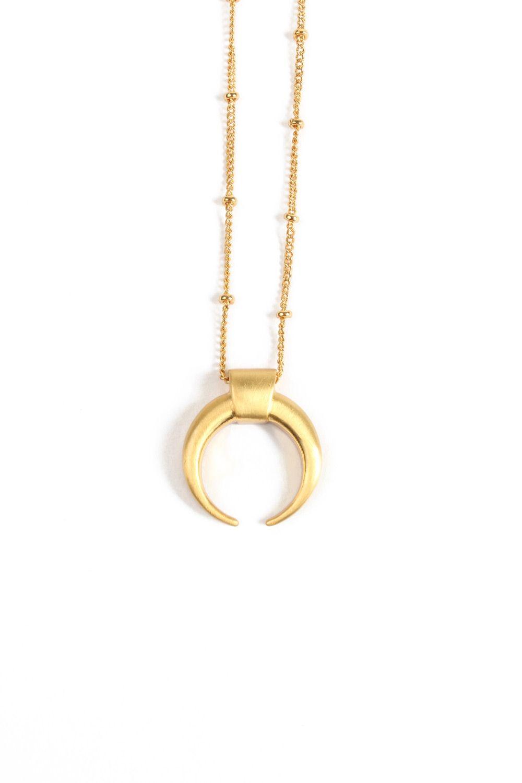 Norr By Erbs - Halskæde - Plain Moon Necklace Big - Gold