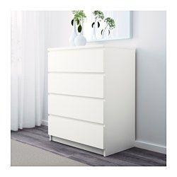 malm kommode mit 4 schubladen wei schr gen und ankleiden pinterest. Black Bedroom Furniture Sets. Home Design Ideas