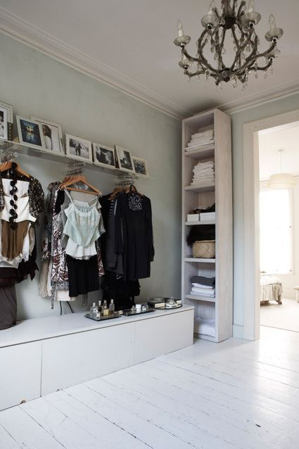 Love this closet....it looks like a shop