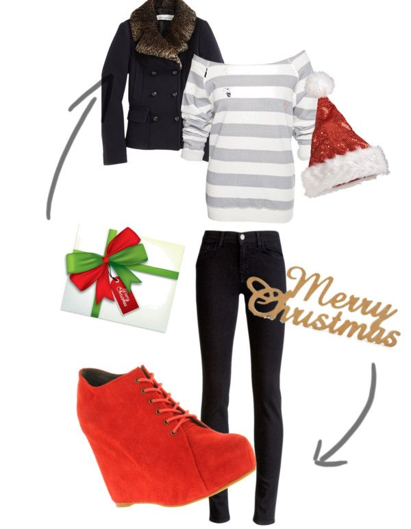 """""""Merry Christmas:)"""" by waffleschic ❤ liked on Polyvore"""