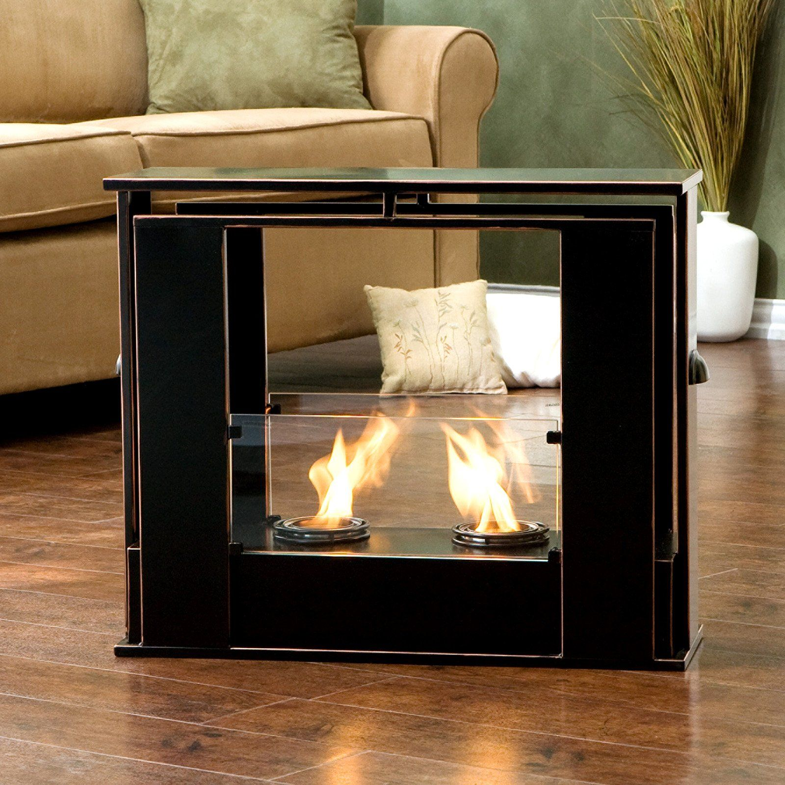 Southern Enterprises Portable Indoor Outdoor Fireplace Enjoy