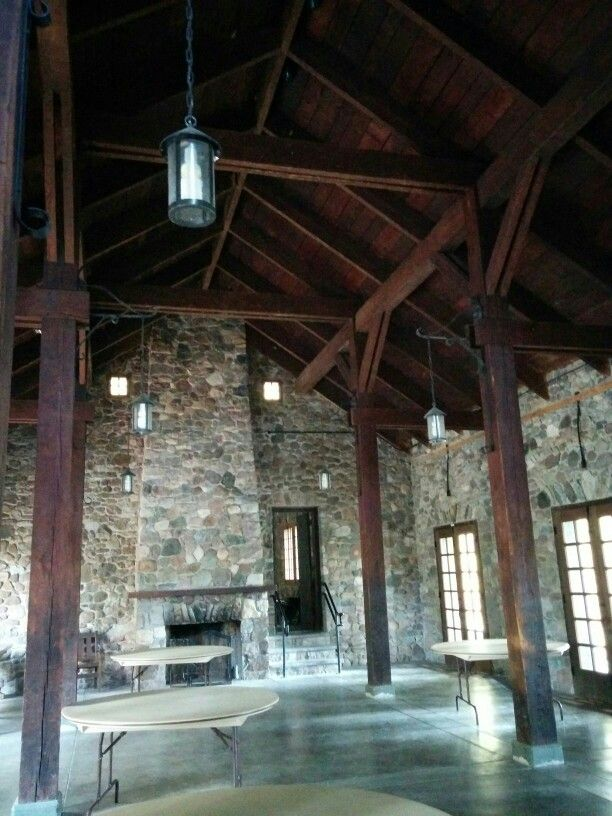 Green Lakes State Park Old Administration building (main room ...