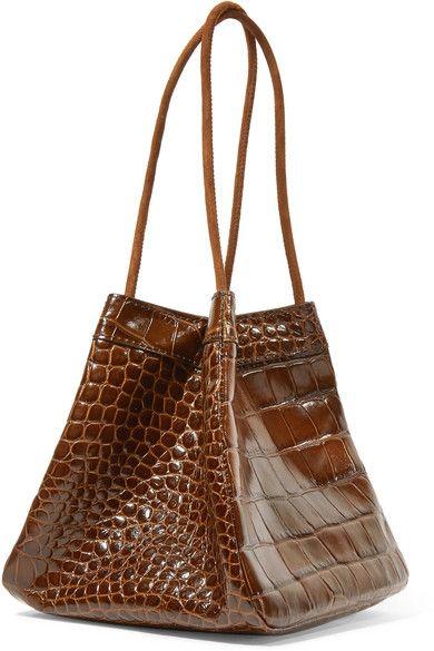 8947a54a06 Rejina Pyo - Rita Croc-effect Leather Bucket Bag - Brown
