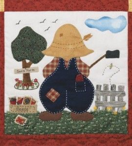 Farmer sam quilt block quilting craft quilt block for Country woman magazine crafts